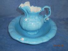 1975 ARNERS TURQUOISE BLUE PITCHER & BOWL