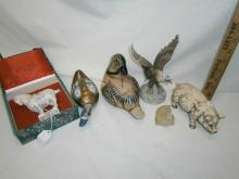 6 COLLECTIBLE ANIMAL FIGURINES