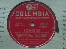 """Billie Holiday w/ Teddy Wilson Orch 78 RPM Record COLUMBIA """"My Melancholy Baby"""""""