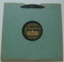 """Hunter & Jenkins (Coot Grant & Kid Wesley Wilson) 78 RPM Record VOCALION """"Meat Cuttin' Blues"""""""