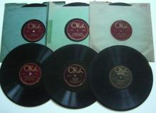 (6) 1920's Jazz / Dance Band 78 RPM Records on the OKEH Label