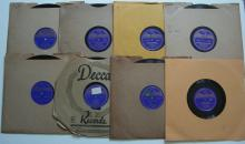 (8) 1930's / 40's Jazz 78 RPM Records on the VOCALION Label – Louis Armstrong, Nan Wynn, Mildred Bailey, Etc...
