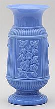 Opaline blue glass vase.