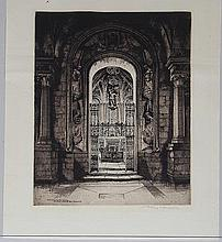ALBANY E. HOWARTH, ''Entrance to the Shrine...'', etching.