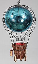 Italian hand blown blue mercury glass balloon