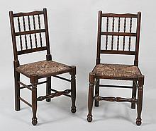 Pair of 19th century English oak chairs