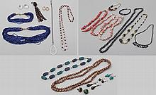 Group of costume jewelry items