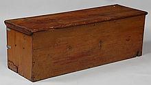 19th century American pine blanket chest.