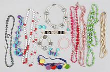 Group of vintage and other costume jewelry