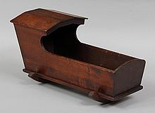 19th century pine doll's cradle