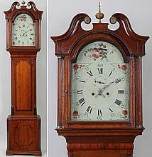 English tall case clock.