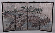Asian four panel screen