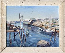 American coastal dock scene