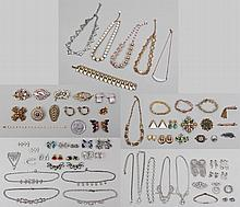 Large group of costume jewelry items,
