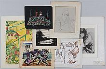Group of (7) works on paper