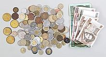 Large group of foreign currency