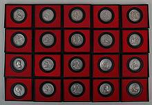 Group of (35+) pewter America's First Medals
