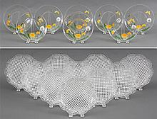 Group of (2) sets of glass dishes