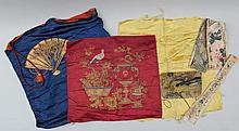 Group of (5) Asian textiles