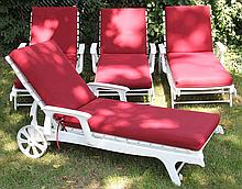 Set of (4) Kettler Wetterfest lounge chairs