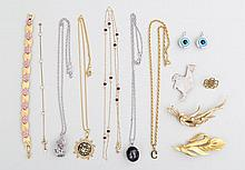 Group of (13) costume jewelry