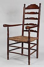 19th/20th century American ladderback armchair