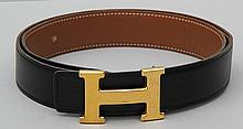 Hermes gold tone belt.