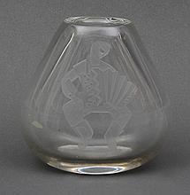 Hadeland colorless glass vase.