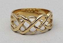 18k gold knot ring.