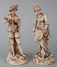 Pair of porcelain figures, Royal Rudolstadt.