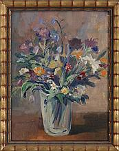 Czech School (20th century) floral still life, oil