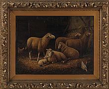 E. L. KINLOCH (American, 19th century), barnyard w
