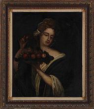 Continental School (18th century), portrait of wom