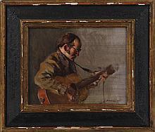 NELSON SHANKS (American, b.1937), guitarist, oil o