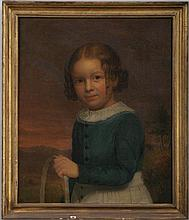 American School (Early 19th century), portrait of