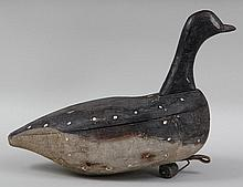 Folky Long Island Brandt or goose decoy attributed