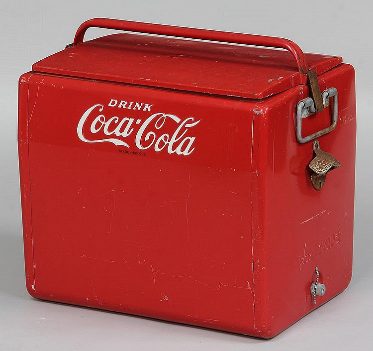 Vintage Red Coca Cola Cooler 1950s  Old Coca Cola Coolers