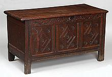 18th/19th century Continental walnut blanket chest