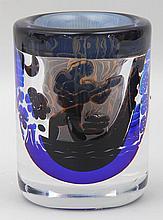 Orrefors Edvin Ohrstrom Ariel glass vase