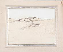 HAMILTON KING, Long Island dunes, watercolor.