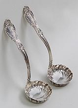 Pair of Tiffany & Co sterling silver ladles in Ric