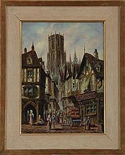 LEWIS JOHN WOOD (British, 1813-1901), city scene w