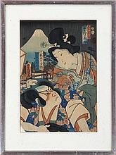 After UTAGAWA TOYOKUNI (Japanese, 1769-1825), two