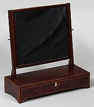 English mahogany dressing mirror with three drawer