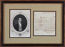 James Monroe (1758-1831), Jan 1, 1891, signed lett
