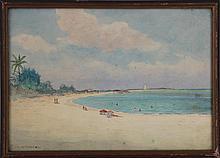 HARTWELL LEON WOODCOCK (American, 1853-1929), beac