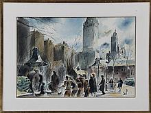 MILTON MARX (American illustrator, b. 1898), Centr