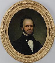 American School (19th century), oval portrait of g