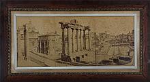 Large panoramic albumen print (19th century), Roma