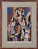 GINO SEVERINI (Italian, 1883-1966), ''il Musicisti, Gino Severini, $200